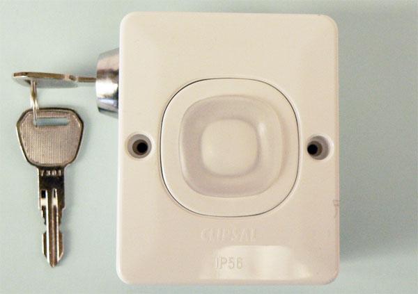 Radio Push Button w/ 2 Position Key Switch