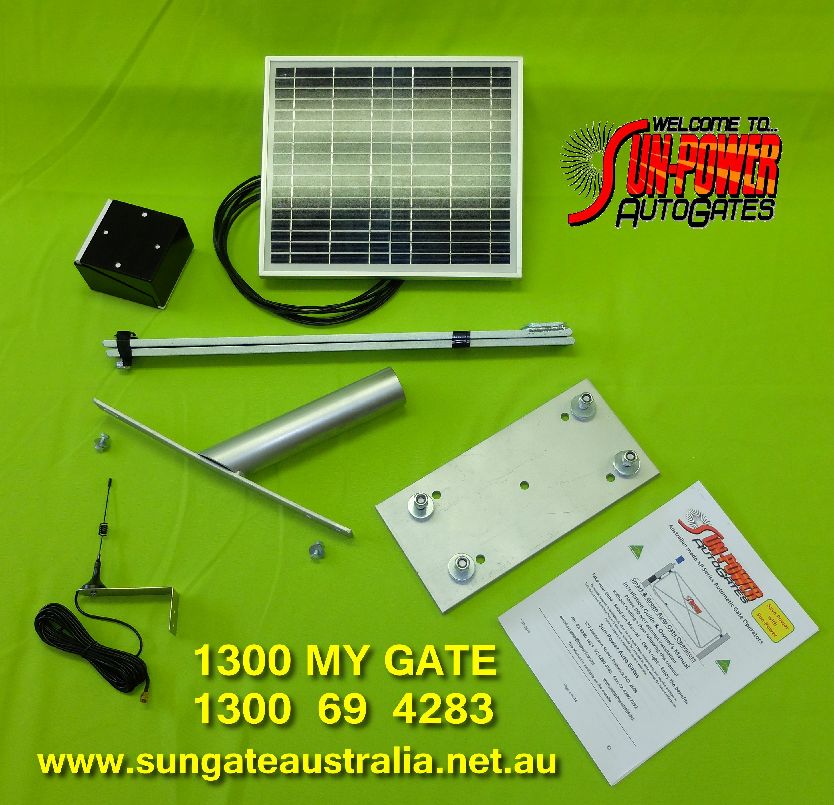 Solar Panel and bracket - Lever Arm - Mounting Plate - Aerial - Remotes - Keypads