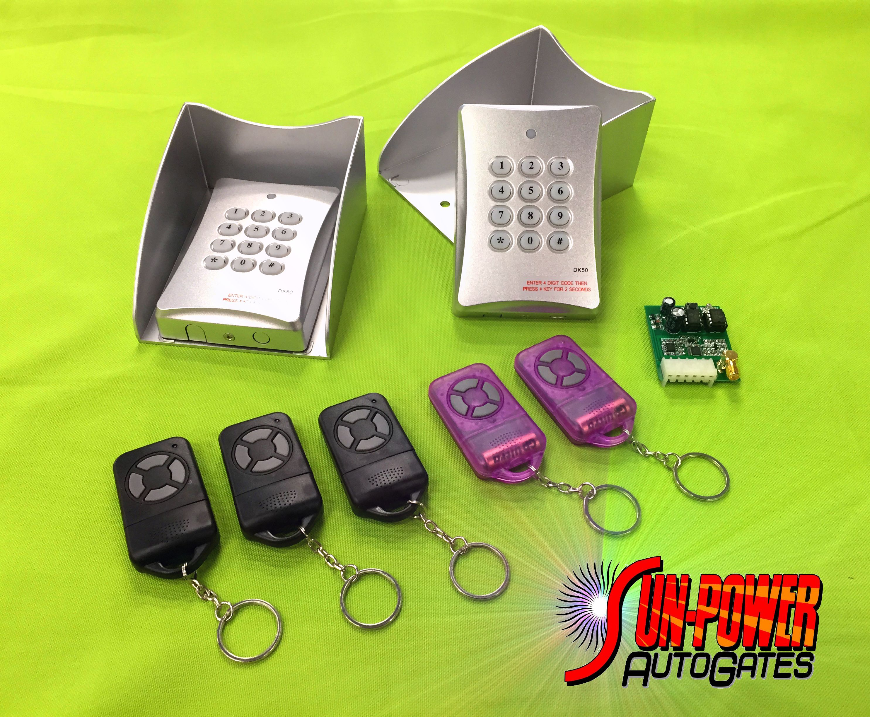 Keypads and remotes for the XP series Gate Operators from SUN-POWER Auto Gates