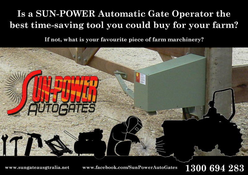 Sun Power Automatic Gate Saves Time Solar Powered Gate Operator saves time on the Farm Best time saver and adds Safety