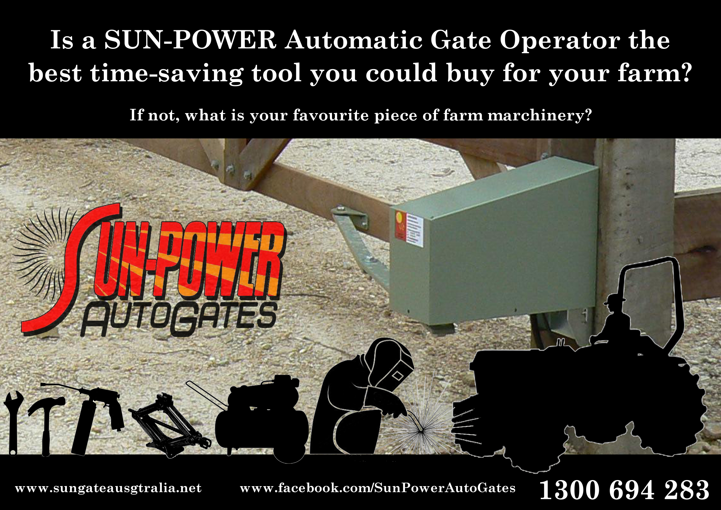Is a SUN-POWER Auto Gate Kit the best time-saving tool you will ever have on your farm